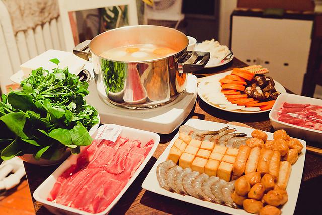 火锅进行时 冬天也温暖 – 深夜谈吃